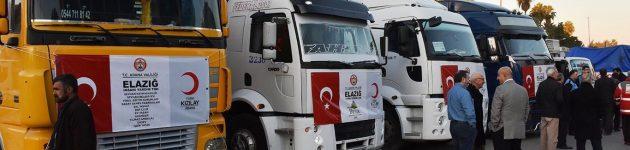 Adana'dan deprem bölgesine yardım